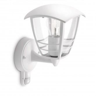 PHILIPS 15388/31/16 | CreekP Philips fali lámpa mozgásérzékelő 1x E27 IP44 fehér