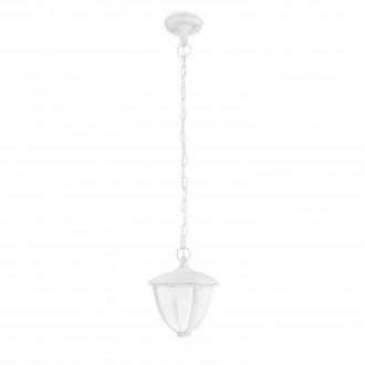 PHILIPS 15476/31/16 | Robin Philips függeszték lámpa 1x LED 430lm 2700K IP44 fehér, átlátszó