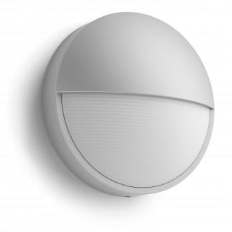 PHILIPS 16455/87/16 | Capricorn Philips fali lámpa 1x LED 600lm 2700K IP44 szürke, fehér