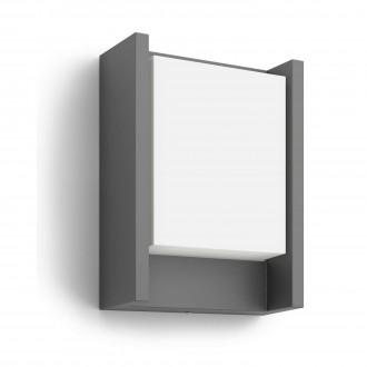 PHILIPS 16460/93/16 | Arbour Philips fali lámpa 1x LED 600lm 2700K IP44 antracit, fehér