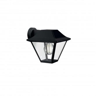 PHILIPS 16495/30/PN | Alpenglow Philips fali lámpa 1x E27 IP44 fekete, átlátszó