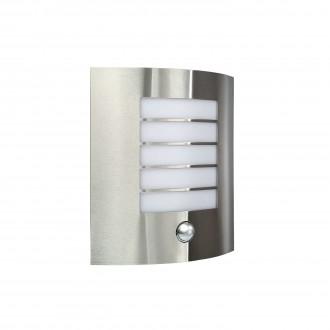 PHILIPS 17014/47/10 | Oslo Philips fali lámpa mozgásérzékelő 1x E27 IP44 inox, fehér
