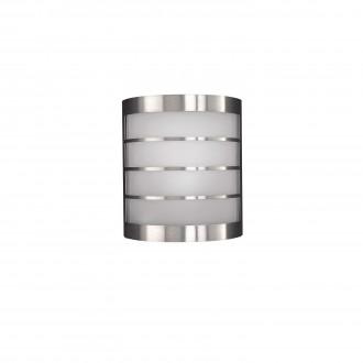 PHILIPS 17173/47/10 | CalgaryP1 Philips fali lámpa energiatakarékos izzóhoz tervezve 1x E14 IP44 inox, fehér