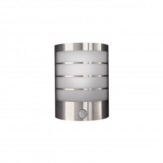 PHILIPS 17174/47/10 | CalgaryP1 Philips fali lámpa mozgásérzékelő energiatakarékos izzóhoz tervezve 1x E14 IP44 inox, fehér