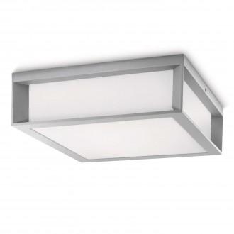 PHILIPS 17184/87/16 | Skies Philips fali, mennyezeti lámpa 2x E27 1620lm 2700K IP44 világosszürke, fehér