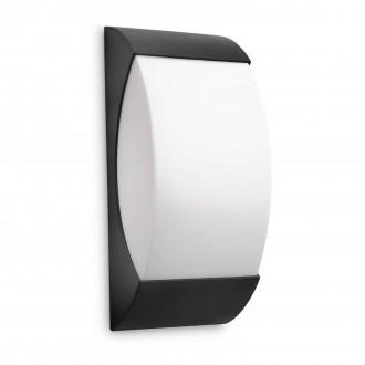 PHILIPS 17250/30/16 | Starry Philips fali lámpa energiatakarékos izzóhoz tervezve 1x E27 1320lm 2700K IP44 fekete, fehér