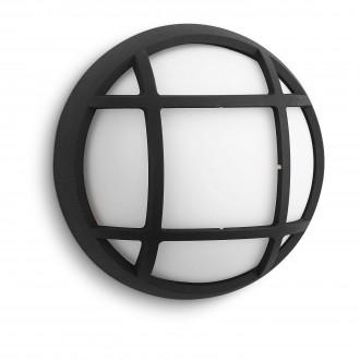 PHILIPS 17305/30/16 | Eagle Philips fali, mennyezeti lámpa 1x LED 270lm 2700K IP44 fekete, fehér