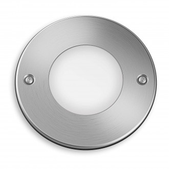 PHILIPS 17306/47/16 | Moss Philips beépíthető lámpa Ø114mm 1x LED 270lm 2700K IP67 inox