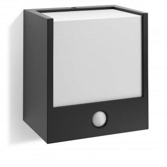 PHILIPS 17317/30/16 | Macaw Philips fali lámpa mozgásérzékelő 1x LED 320lm 2700K IP44 fekete, fehér