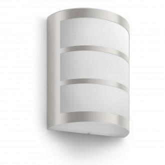 PHILIPS 17323/47/16 | Python Philips fali lámpa 1x LED 600lm 2700K IP44 inox, fehér