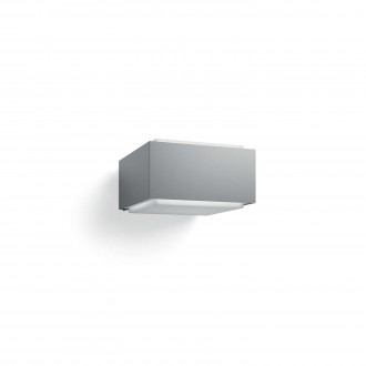PHILIPS 17337/87/PN | Hedgehog Philips fali lámpa négyszögletes 1x E27 IP44 világosszürke, fehér