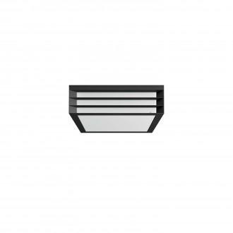 PHILIPS 17350/93/PN | Moonshine Philips fali lámpa négyzet 2x E27 IP44 antracit szürke, fehér