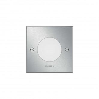 PHILIPS 17356/47/P0 | Crust Philips beépíthető lámpa négyzet 115x115mm 1x LED 270lm 2700K IP67 inox