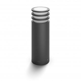 PHILIPS 17402/93/P0 | PHILIPS-hue-Lucca Philips álló hue okos világítás 40cm szabályozható fényerő 1x E27 806lm 2700K IP44 antracit szürke, fehér