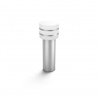 PHILIPS 17405/47/P0 | PHILIPS-hue_Tuar Philips álló hue okos világítás 40cm szabályozható fényerő 1x E27 806lm 2700K IP44 inox, fehér