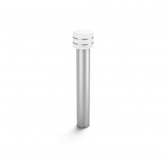 PHILIPS 17406/47/P0 | PHILIPS-hue-Tuar Philips álló hue okos világítás 77cm szabályozható fényerő 1x E27 806lm 2700K IP44 inox, fehér