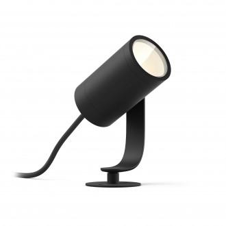 PHILIPS 17415/30/P7 | PHILIPS-hue-Lily Philips leszúrható 24V EXT. hue okos világítás szabályozható fényerő, állítható színhőmérséklet, színváltós 1x LED 640lm 2700 <-> 6500K IP65 fekete