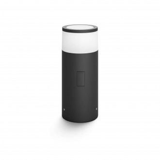 PHILIPS 17420/30/P7 | PHILIPS-hue-Calla Philips álló hue okos világítás 25,2cm szabályozható fényerő, állítható színhőmérséklet, színváltós 1x LED 640lm 2700 <-> 6500K IP65 fekete, fehér
