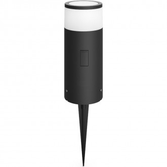 PHILIPS 17420/93/P7 | PHILIPS-hue_Calla Philips álló hue okos világítás 25,2cm szabályozható fényerő, állítható színhőmérséklet, színváltós 1x LED 640lm 2200 <-> 6500K IP65 antracit szürke, fehér