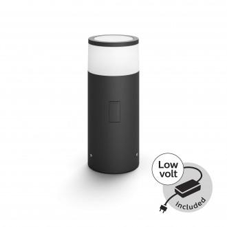 PHILIPS 17423/30/P7 | PHILIPS-hue-Calla Philips álló hue okos világítás 25,2cm szabályozható fényerő, állítható színhőmérséklet, színváltós 1x LED 640lm 2700 <-> 6500K IP65 fekete, fehér