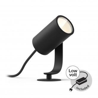 PHILIPS 17428/30/P7 | PHILIPS-hue-Lily Philips leszúrható BASE hue okos világítás + LED tápegység szabályozható fényerő, állítható színhőmérséklet, színváltós 1x LED 640lm 2700 <-> 6500K IP65 fekete