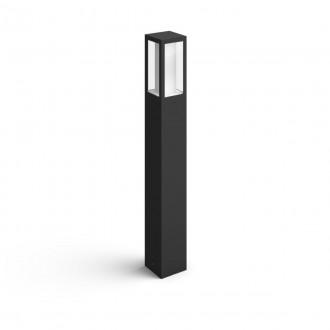 PHILIPS 17432/30/P7 | PHILIPS-hue-Impress Philips álló hue okos világítás négyszögletes 77cm szabályozható fényerő, állítható színhőmérséklet, színváltós 2x LED 1200lm 2700 <-> 6500K IP44 fekete, fehér