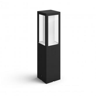 PHILIPS 17434/30/P7 | PHILIPS-hue-Impress Philips álló 24V EXT. hue okos világítás négyszögletes 40cm szabályozható fényerő, állítható színhőmérséklet, színváltós 2x LED 1200lm 2700 <-> 6500K IP44 fekete, fehér