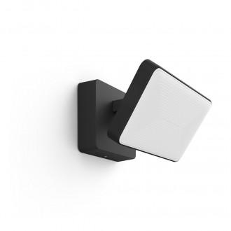 PHILIPS 17435/30/P7 | PHILIPS-hue-Discover Philips fényvető hue okos világítás négyszögletes szabályozható fényerő, állítható színhőmérséklet, színváltós 2x LED 2300lm 2700 <-> 6500K IP44 fekete, fehér