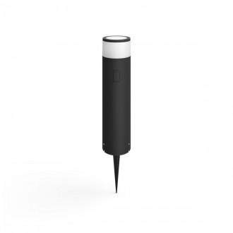PHILIPS 17451/30/P7 | PHILIPS-hue-Calla Philips álló BASE hue okos világítás + LED tápegység henger 40cm szabályozható fényerő, állítható színhőmérséklet, színváltós 1x LED 600lm 2700 <-> 6500K IP65 fekete, fehér