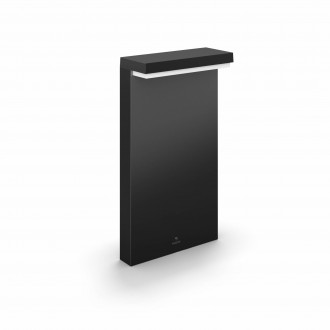 PHILIPS 17455/30/P7 | PHILIPS-hue-Nyro Philips álló hue okos világítás négyszögletes 4cm szabályozható fényerő, állítható színhőmérséklet, színváltós 1x LED 1000lm 2700 <-> 6500K IP44 fekete, fehér