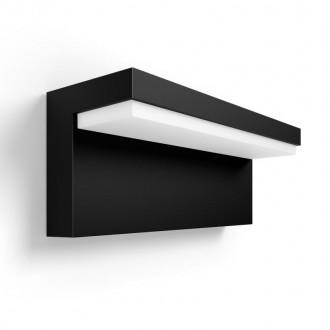 PHILIPS 17456/30/P7 | PHILIPS-hue-Nyro Philips fali hue okos világítás négyszögletes szabályozható fényerő, állítható színhőmérséklet, színváltós 1x LED 1000lm 2700 <-> 6500K IP44 fekete, fehér