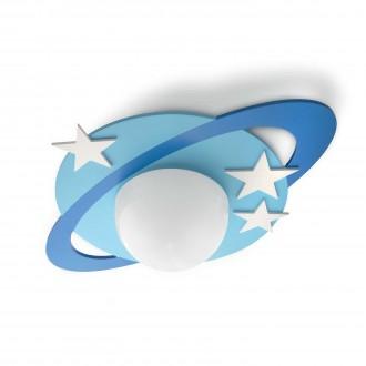 PHILIPS 30501/35/P0 | Cronos Philips mennyezeti lámpa 1x E27 1055lm 2700K kék, fehér