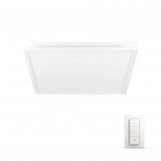 PHILIPS 32162/31/P5 | PHILIPS-hue-Aurelle Philips mennyezeti hue okos világítás négyzet távirányító szabályozható fényerő, állítható színhőmérséklet 1x LED 4200lm 2200 <-> 6500K fehér