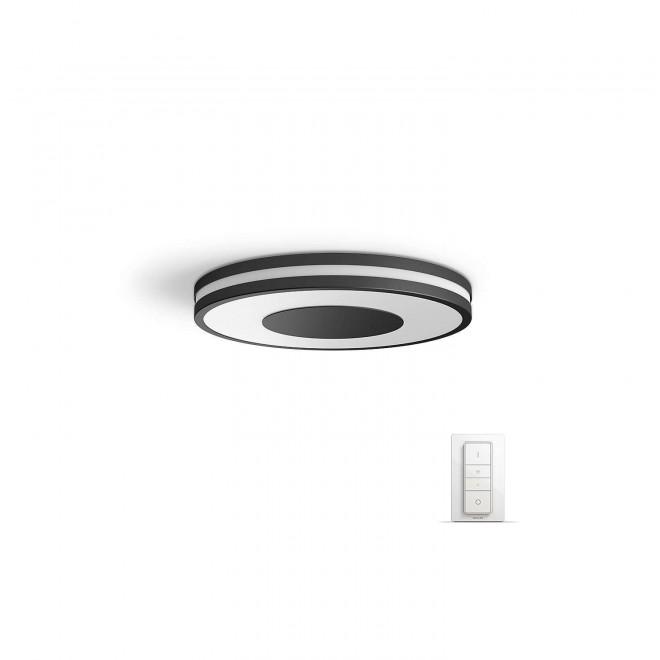 PHILIPS 32610/30/P7 | PHILIPS-hue-Being Philips mennyezeti hue okos világítás kerek távirányító szabályozható fényerő, állítható színhőmérséklet 1x LED 2400lm 2200 <-> 6500K fekete, fehér