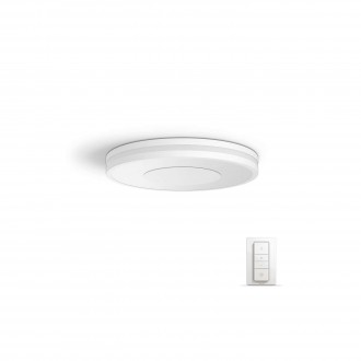 PHILIPS 32610/31/P7 | PHILIPS-hue_Being Philips mennyezeti hue okos világítás kerek távirányító szabályozható fényerő, állítható színhőmérséklet 1x LED 2400lm 2200 <-> 6500K fehér