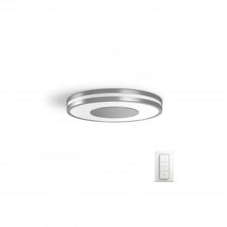 PHILIPS 32610/48/P7 | PHILIPS-hue_Being Philips mennyezeti hue okos világítás kerek távirányító szabályozható fényerő, állítható színhőmérséklet 1x LED 2400lm 2200 <-> 6500K alumínium, fehér