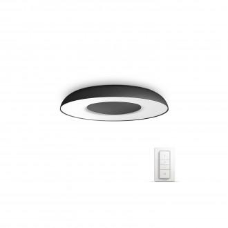 PHILIPS 32613/30/P7 | PHILIPS-hue_Still Philips mennyezeti hue okos világítás kerek távirányító szabályozható fényerő, állítható színhőmérséklet 1x LED 2400lm 2200 <-> 6500K fekete, fehér