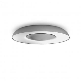 PHILIPS 32613/48/P6 | PHILIPS-hue-Still Philips mennyezeti hue DIM hordozható kapcsoló + hue okos világítás kerek távirányító szabályozható fényerő, állítható színhőmérséklet, Bluetooth 1x LED 2400lm 2200 <-> 6500K alumínium, fehér