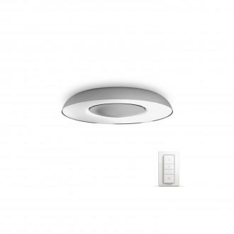 PHILIPS 32613/48/P7 | PHILIPS-hue_Still Philips mennyezeti hue okos világítás kerek távirányító szabályozható fényerő, állítható színhőmérséklet 1x LED 2400lm 2200 <-> 6500K alumínium, fehér