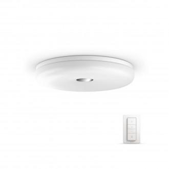 PHILIPS 33064/31/P7 | PHILIPS-hue_Struana Philips mennyezeti hue okos világítás kerek távirányító szabályozható fényerő, állítható színhőmérséklet 1x LED 2400lm 2200 <-> 6500K IP44 fehér