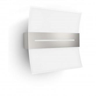 PHILIPS 33516/17/16 | Brazos Philips fali lámpa 1x LED 600lm 2700K matt króm, fehér