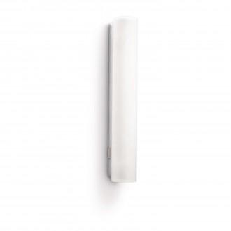 PHILIPS 34093/11/16 | Vitalise Philips fali lámpa kapcsoló energiatakarékos izzóhoz tervezve 1x G5 / T5 470lm 2700K IP44 fehér