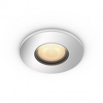 PHILIPS 34175/11/P9 | PHILIPS-hue-Adore Philips beépíthető hue okos világítás kerek szabályozható fényerő, állítható színhőmérséklet, Bluetooth Ø94mm 1x GU10 350lm 2200 <-> 6500K króm