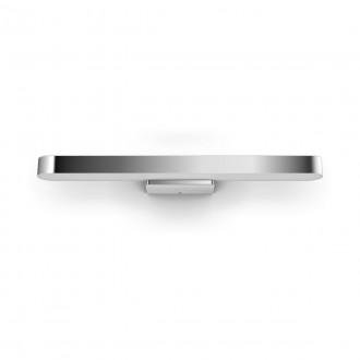 PHILIPS 34177/11/P6 | PHILIPS-hue-Adore Philips falikar hue DIM hordozható kapcsoló + hue okos világítás távirányító szabályozható fényerő, színváltós, állítható színhőmérséklet, Bluetooth 1x LED 3000lm 2200 <-> 6500K IP44 króm, fehér