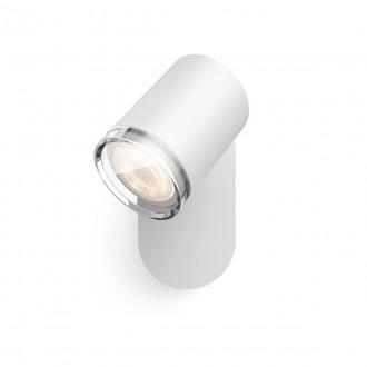 PHILIPS 34178/31/P6 | PHILIPS-hue-Adore Philips spot hue DIM hordozható kapcsoló + hue okos világítás kerek távirányító szabályozható fényerő, állítható színhőmérséklet, Bluetooth 1x GU10 350lm 2200 <-> 6500K IP44 fehér