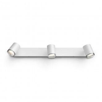 PHILIPS 34179/31/P6 | PHILIPS-hue-Adore Philips spot hue DIM hordozható kapcsoló + hue okos világítás kerek távirányító szabályozható fényerő, állítható színhőmérséklet, Bluetooth 2x GU10 700lm 2200 <-> 6500K IP44 fehér