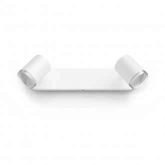 PHILIPS 34180/31/P6 | PHILIPS-hue-Adore Philips spot hue DIM hordozható kapcsoló + hue okos világítás kerek távirányító szabályozható fényerő, állítható színhőmérséklet, Bluetooth 3x GU10 1050lm 2200 <-> 6500K IP44 fehér