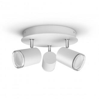 PHILIPS 34181/31/P6 | PHILIPS-hue-Adore Philips spot hue DIM hordozható kapcsoló + hue okos világítás kerek távirányító szabályozható fényerő, állítható színhőmérséklet, Bluetooth 3x GU10 1050lm 2200 <-> 6500K IP44 fehér