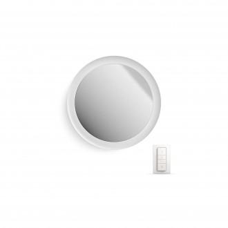 PHILIPS 34357/31/P7 | PHILIPS-hue_Adore Philips fali hue okos világítás távirányító szabályozható fényerő, állítható színhőmérséklet, színváltós 1x LED 2400lm 2200 <-> 6500K IP44 fehér, tükör