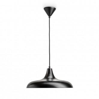 PHILIPS 36032/30/E7 | Durham Philips függeszték lámpa 1x E27 fekete, vörösréz